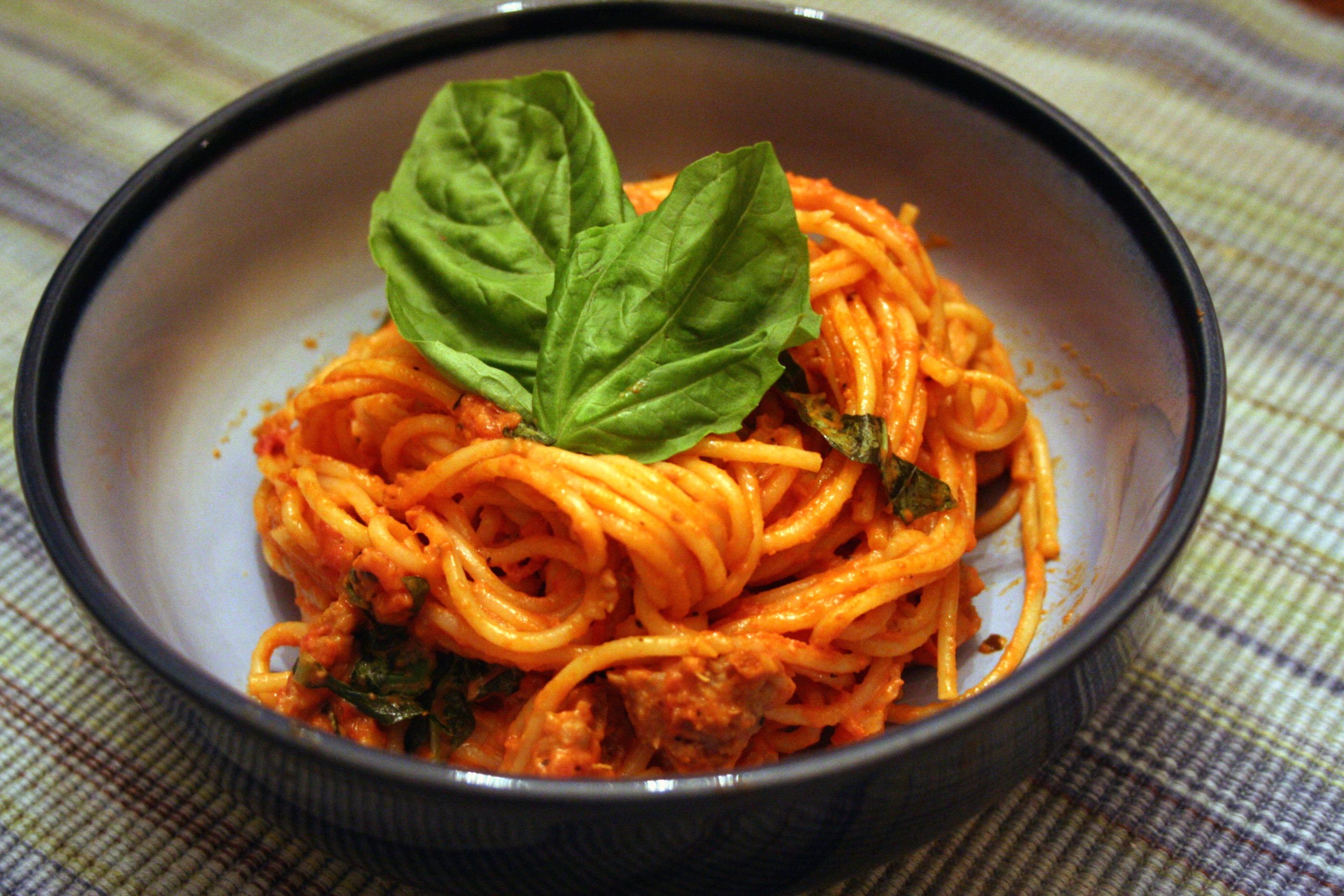 Vodka Cream Pasta With Italian Sausage Recipes — Dishmaps