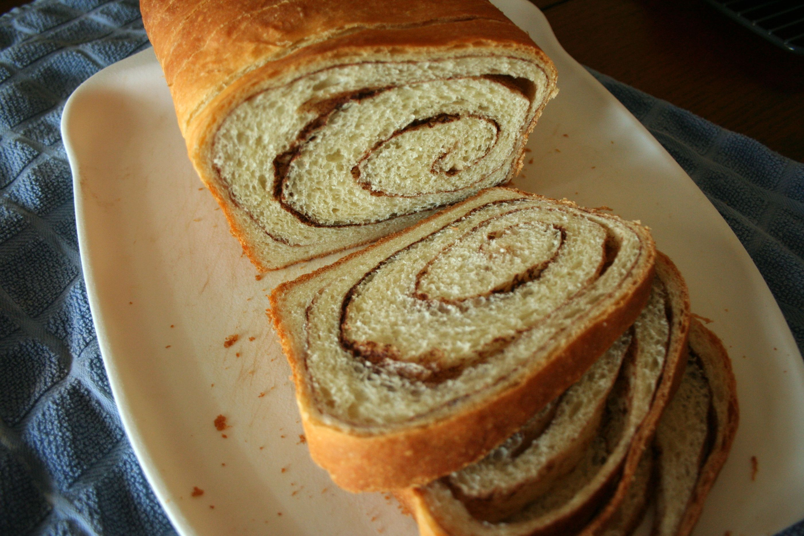 Cinnamon Swirl Bread – adapted from Dorie Greenspan via food.baby