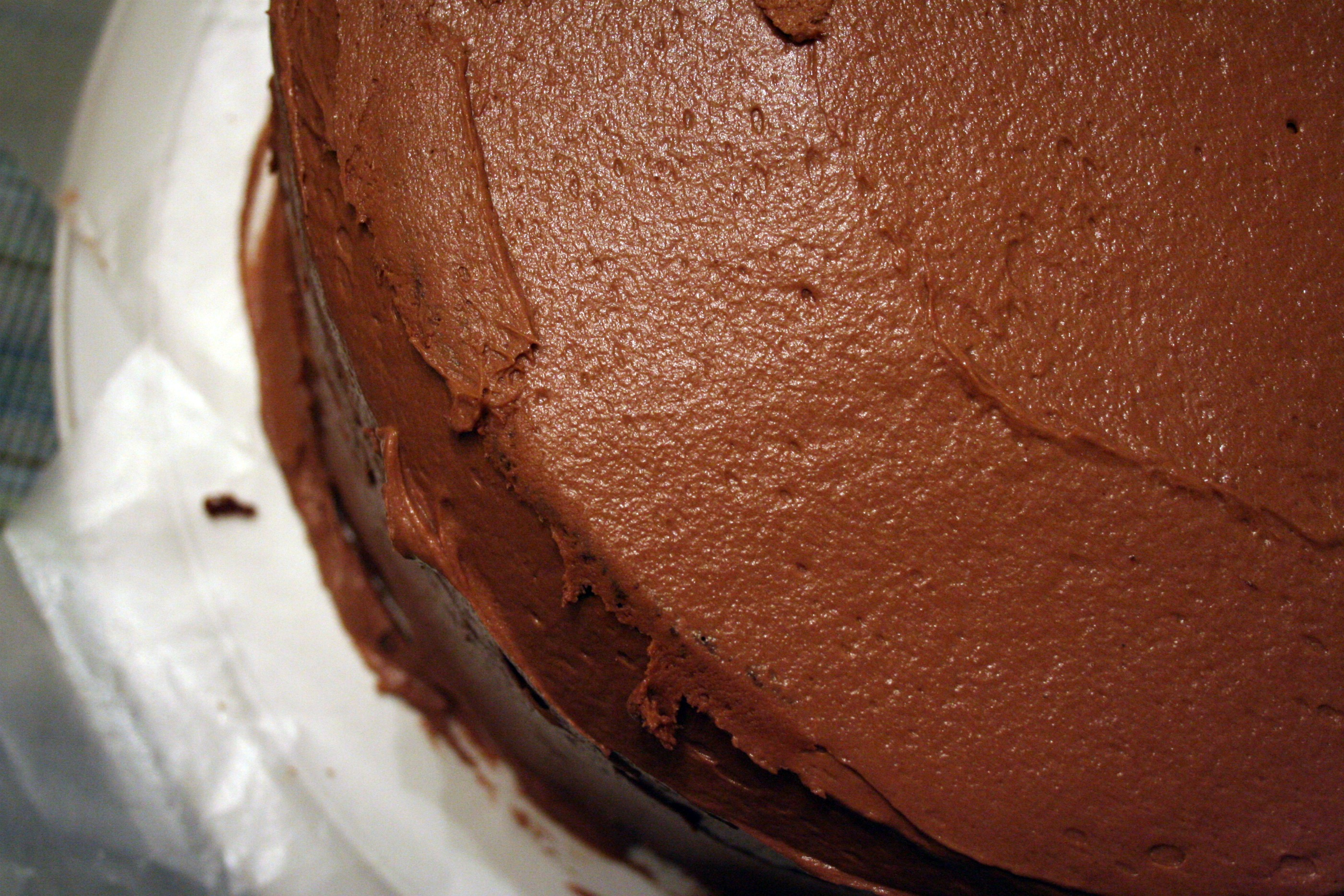 Triple Layer Chocolate Cake With Chocolate Buttercream