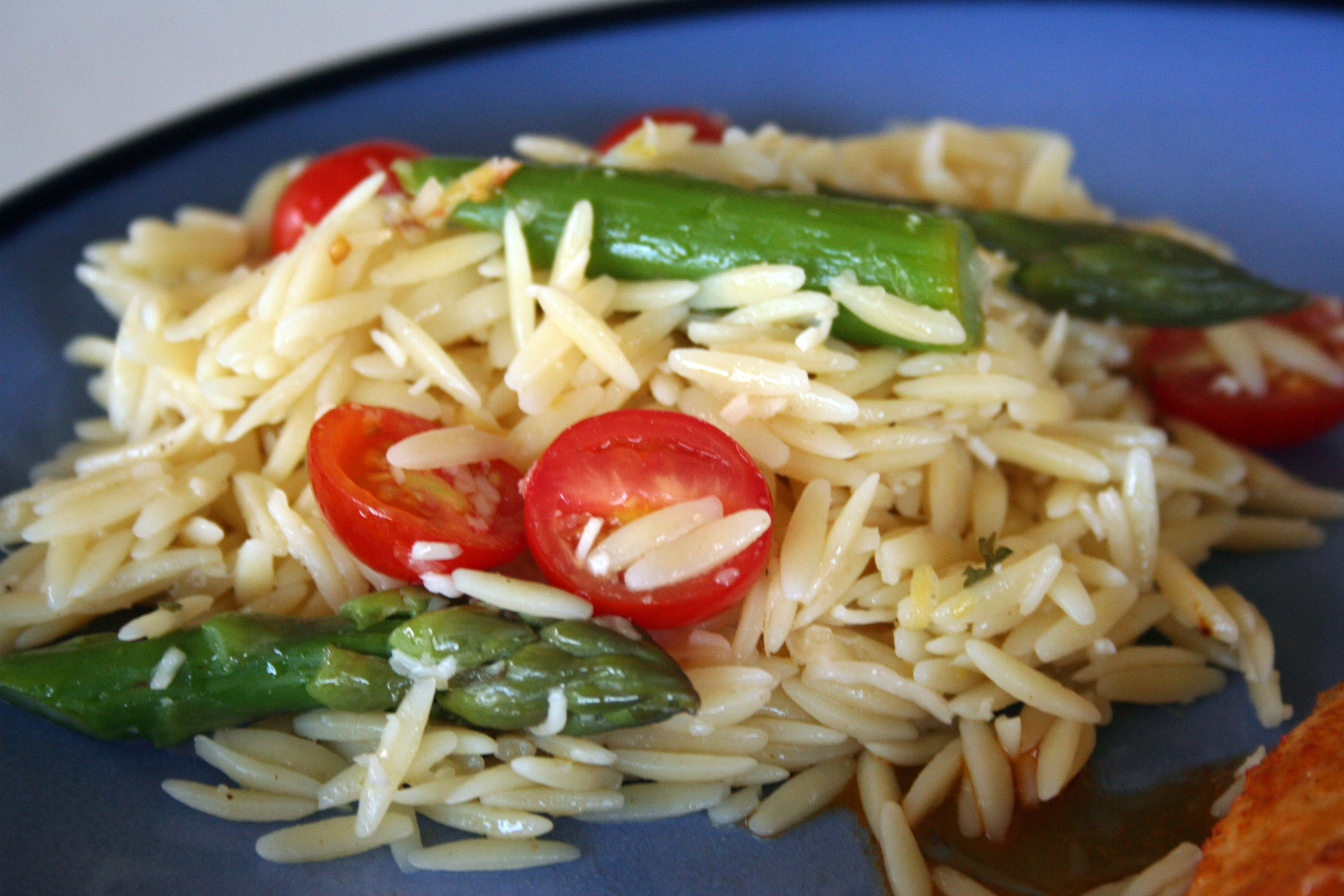 Lemon Orzo Salad with Asparagus and Tomatoes…(my 100th post!) | Mom ...