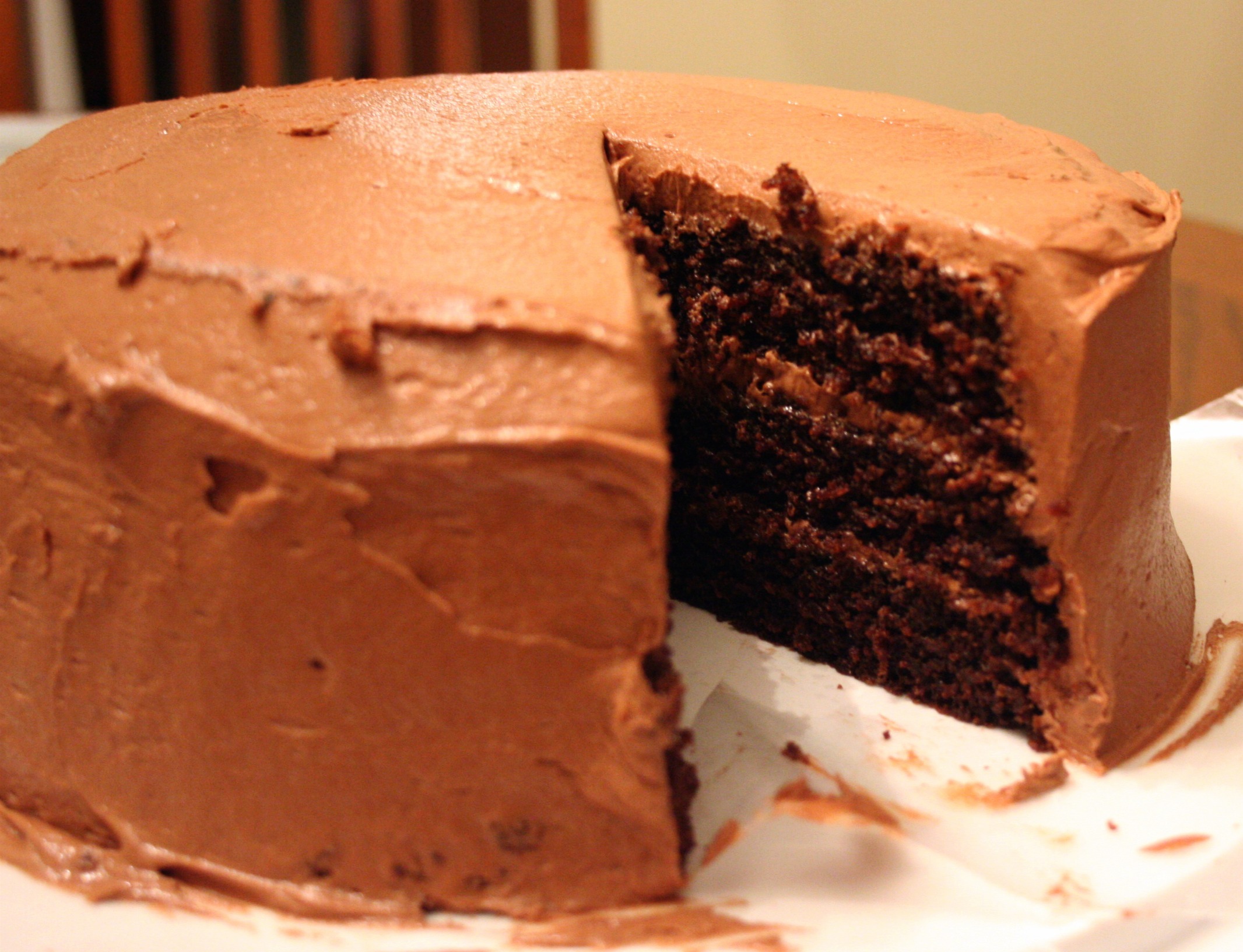 Triple Layer Chocolate Cake with Chocolate Buttercream Icing | Mom ...