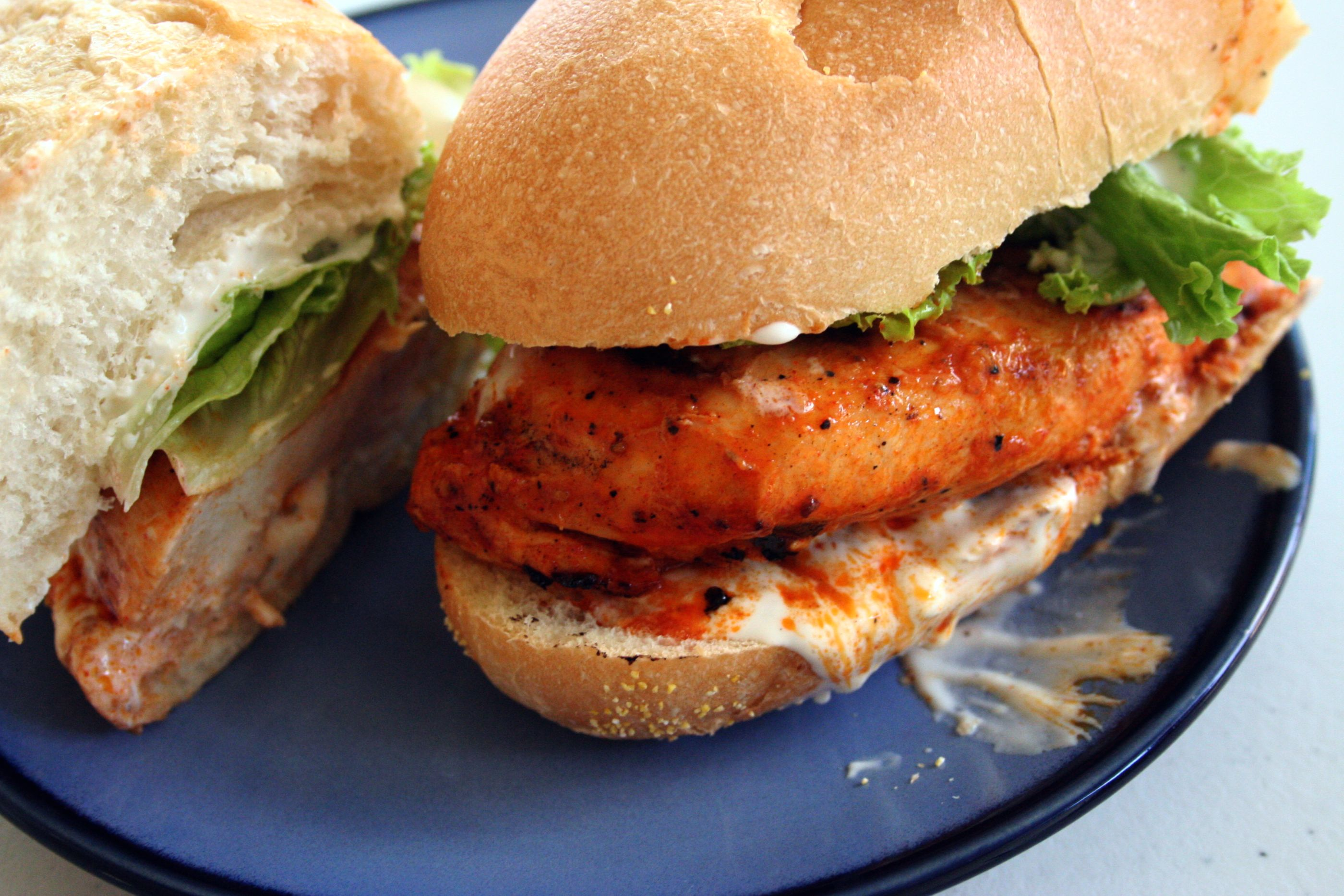 Hot Buffalo Chicken Sandwiches | Mom-Makes...