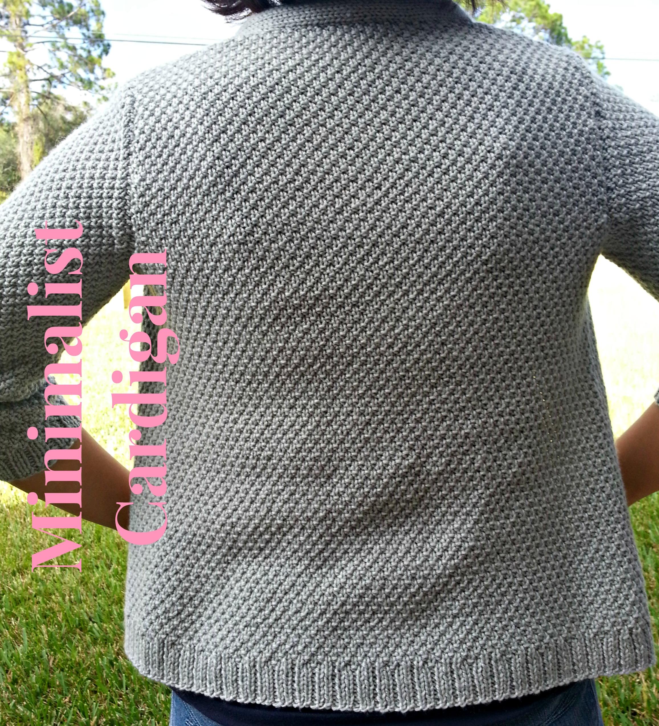 Knitting Pattern Moss Stitch Cardigan : Knitting Mom-Makes...