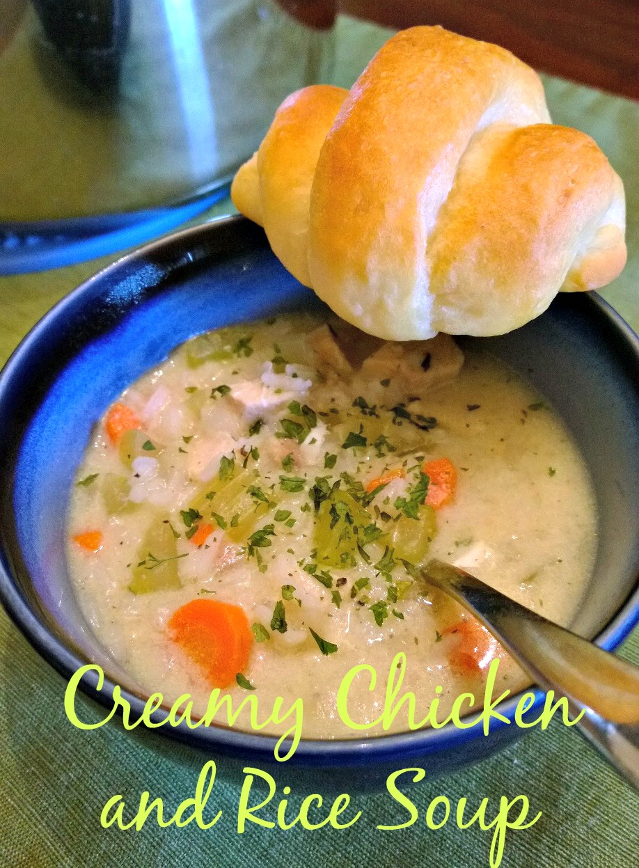 Creamy Chicken and Rice Soup | Mom-Makes...